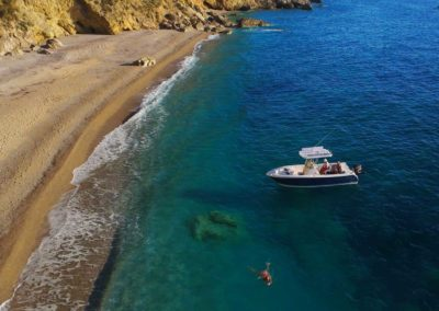 Boat rental to access beaches